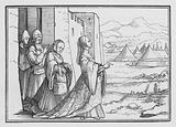Judith and Her Maid Go Forth unto the Assyrian Camp, Judith X, 6