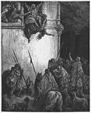 Gustave Dore Bible: The death of Jezebel