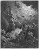 Gustave Dore Bible: The Angel appearing to Balaam