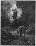 Gustave Dore Bible: Adam and Eve driven out of Eden