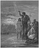 Gustave Dore Bible: The baptism of Jesus