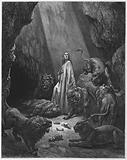 Gustave Dore Bible: Daniel in the den of lions