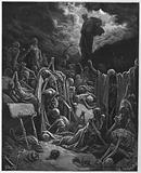 Gustave Dore Bible: The vision of the valley of dry bones