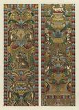 Italian Embroidered Silk Hangings