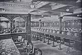 "The Dining Saloon, RMS ""Campania,"" Seating accomodation 430"