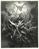 Illustration by Gustave Dore for Milton's Paradise Lost, Book I, lines 44, 45