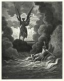 Illustration by Gustave Dore for Milton's Paradise Lost, Book I, lines 221, 222