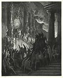 Illustration by Gustave Dore for Milton's Paradise Lost, Book II, lines 1, 2