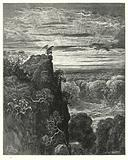 Illustration by Gustave Dore for Milton's Paradise Lost, Book IV, lines 172, 173
