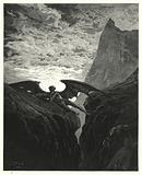 Illustration by Gustave Dore for Milton's Paradise Lost, Book VI, line 406