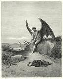 Illustration by Gustave Dore for Milton's Paradise Lost, Book IX, lines 182, 183