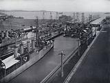 Some of the Pacific Fleet Ships in Gatun Locks, Panama Canal