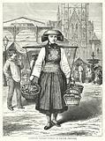 Hamburg Market-Woman in Native Costume