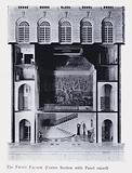 The Queen's Dolls' House: The Front Facade, Centre Section with Panel raised