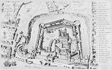 View of the Tower of London in 1553