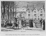 Jane meeting the body of her husband on her way to the Scaffold