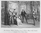 Sir Thomas Wyat dictating terms to Queen Mary in the Council Chamber of the White Tower