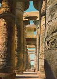 Karnak, the Hypostyle Hall showing the old Egyptian Window