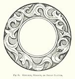 Wood carving: Ring-box, wreath, or bread platter