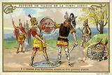 Combat between a Roman legionary and a Gaulish warrior