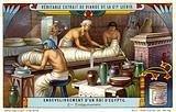 Enbalming the body of a dead Egyptian pharaoh