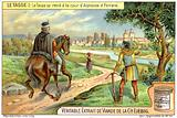 Italian poet Torquato Tasso travelling to the court of Duke Alfonso II of Ferrara