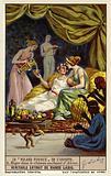 Scene from Italian poet Ludovico Ariosto's epic poem Orlando Furioso: Ruggiero captive in the enchanted castle of Alcina
