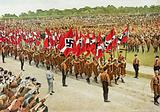 Members of the Nazi Hitler Youth marching on Reich Youth Day, Potsdam, Germany, 1932