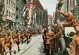 Members of the Nazi Hitler Youth marching past the organisation's leader, Baldur von Schirach, Nuremberg, Germany, 1933