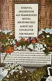 Memorial to German Freikorps member Albert Leo Schlageter, executed in 1923 by the French occupation forces for acts of sabotage, Golzheimer Heath, Germany