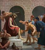 Jesus mocked after being crowned with the Crown of Thorns