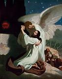 The angel giving Jesus strength during his Agony in the Garden of Gethsemane