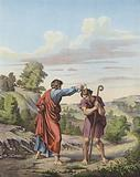 Samuel anointing Saul as King of Israel and Judah