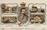 Ludwig II, King of Bavaria, and four of his castles