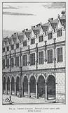 Trinity College, Nevile's Court about 1688, after Loggan