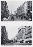 The old Strand, looking east, from Southampton Street; The new Strand, looking east, from Southmapton Street