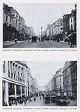Regent Street, looking south, from Maddox Street in 1909; Regent Street, looking south, from Maddox Street in 1926