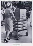 Mobile tea trolley in use