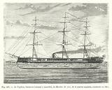 Le Captain, batiment cuirasse a tourelles, ou Monitor de mer, de la marine anglaise, construit en 1868