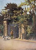 Oxford: Trinity College Gates, Parks' Road