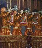 Trumpeters of the Household Cavalry sounding a fanfare