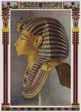 Gold portrait mask from the mummy of Tutankhamun, discovered in the Pharaoh's tomb by Howard Carter in 1922