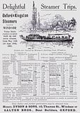 Advertisement for steamer trips on the River Thames from Windsor, Berkshire