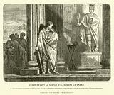 Julius Caesar before a statue of Alexander the Great in Spain, lamenting the scale of his achievements compared to …