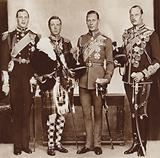 King Edward VIII (second left) and his brothers