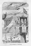 Air-um, Scare-um Travelling – ie anticipation of the future of flying in 1843