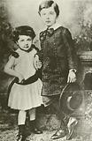 Albert Einstein and his sister, Maja