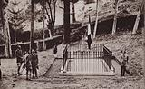 Prince of Wales, future King Edward VIII, visiting Napoleon's tomb on St Helena