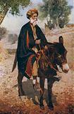 Arab astride an ass in Bethlehem