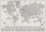 How the influenza pandemic of 1918 spread over the whole world